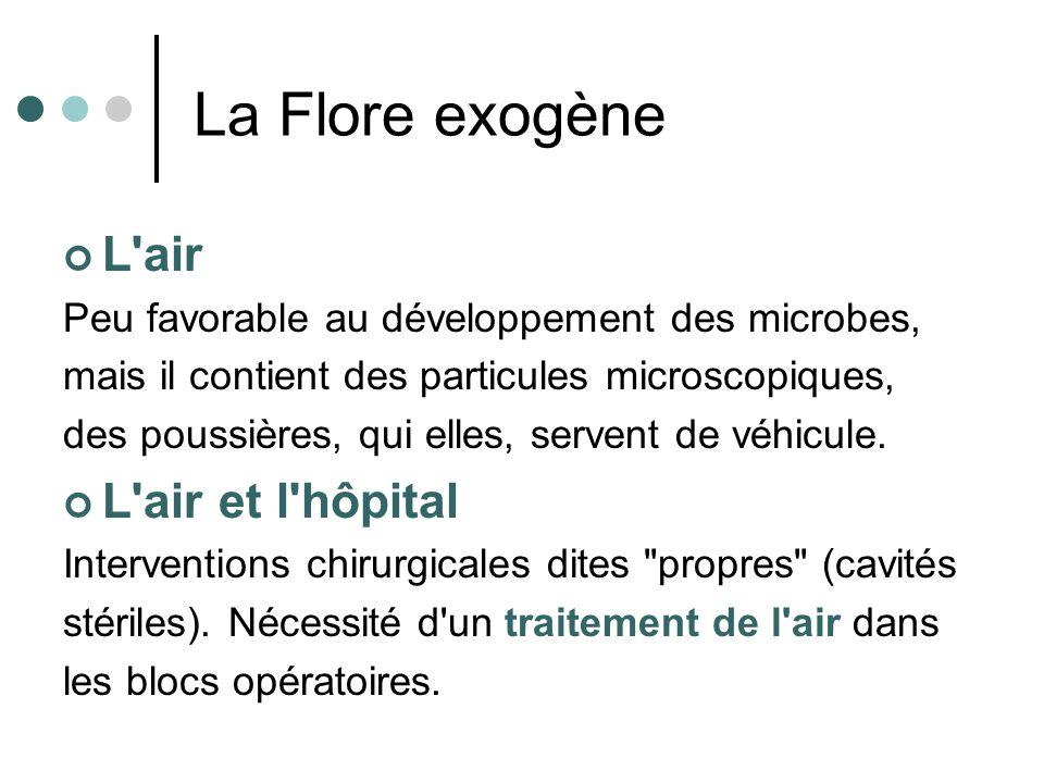 La Flore exogène L air L air et l hôpital