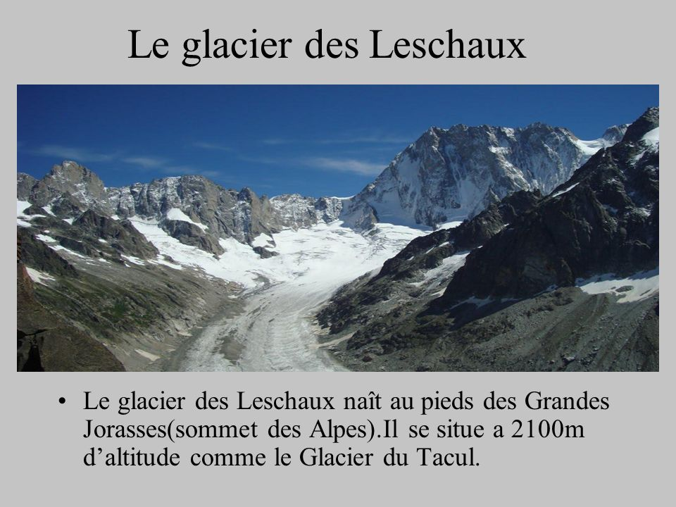 Le glacier des Leschaux
