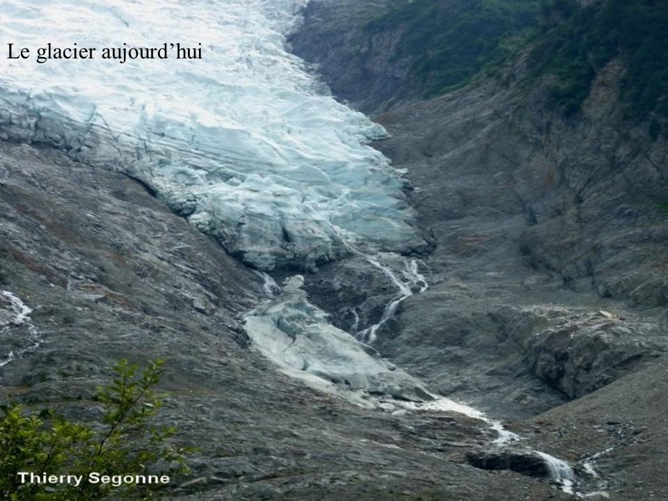 Le glacier aujourd'hui