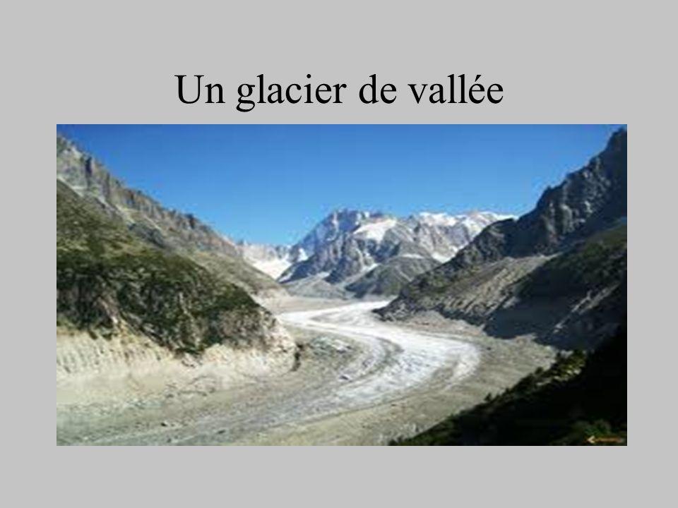 Un glacier de vallée
