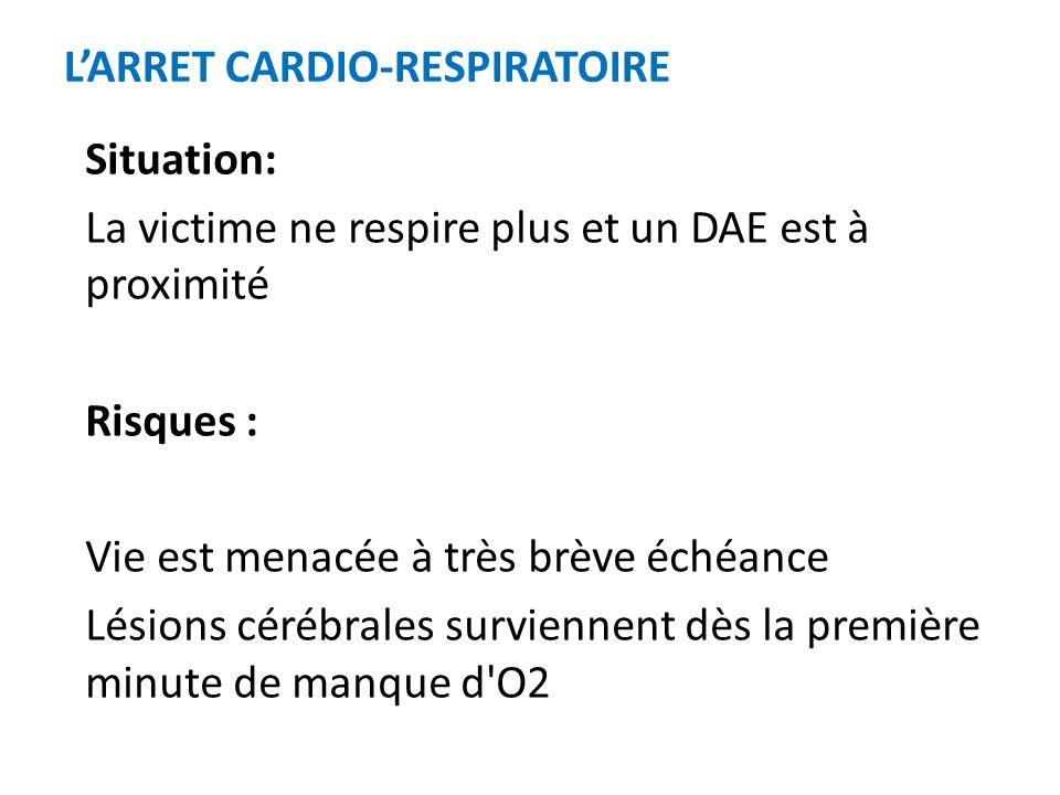 L'ARRET CARDIO-RESPIRATOIRE
