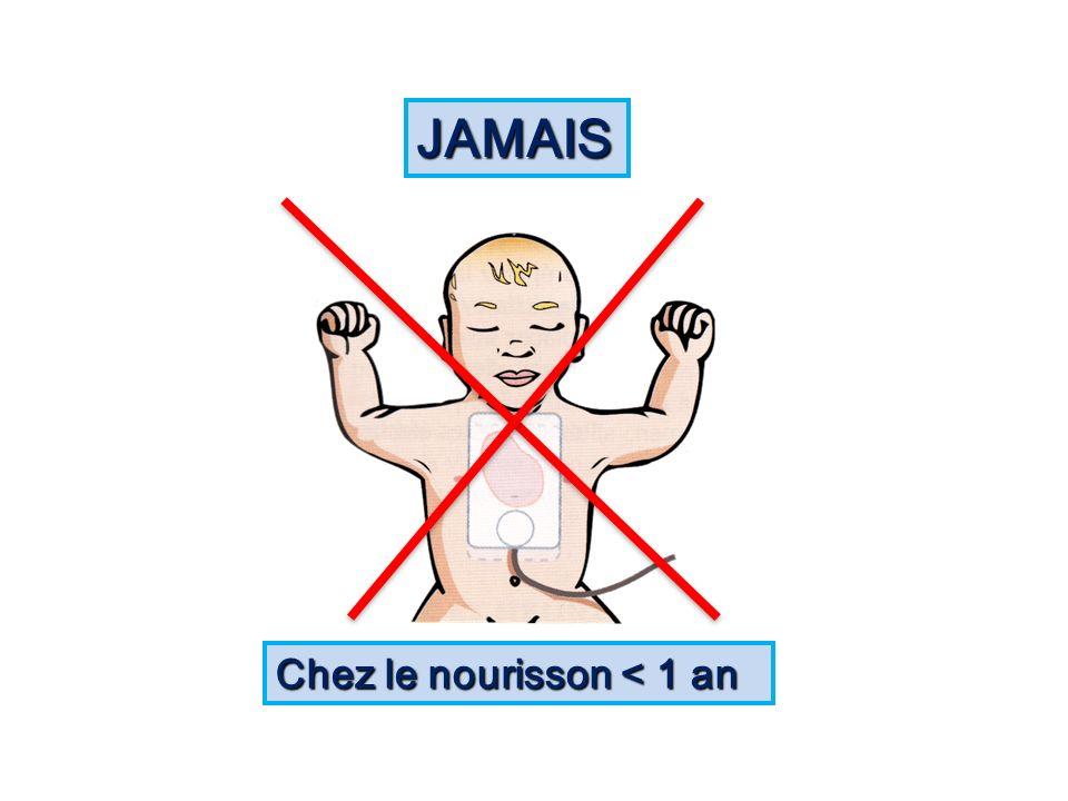 JAMAIS Chez le nourisson < 1 an