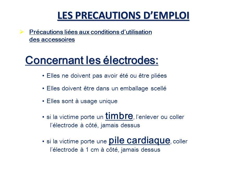 LES PRECAUTIONS D'EMPLOI