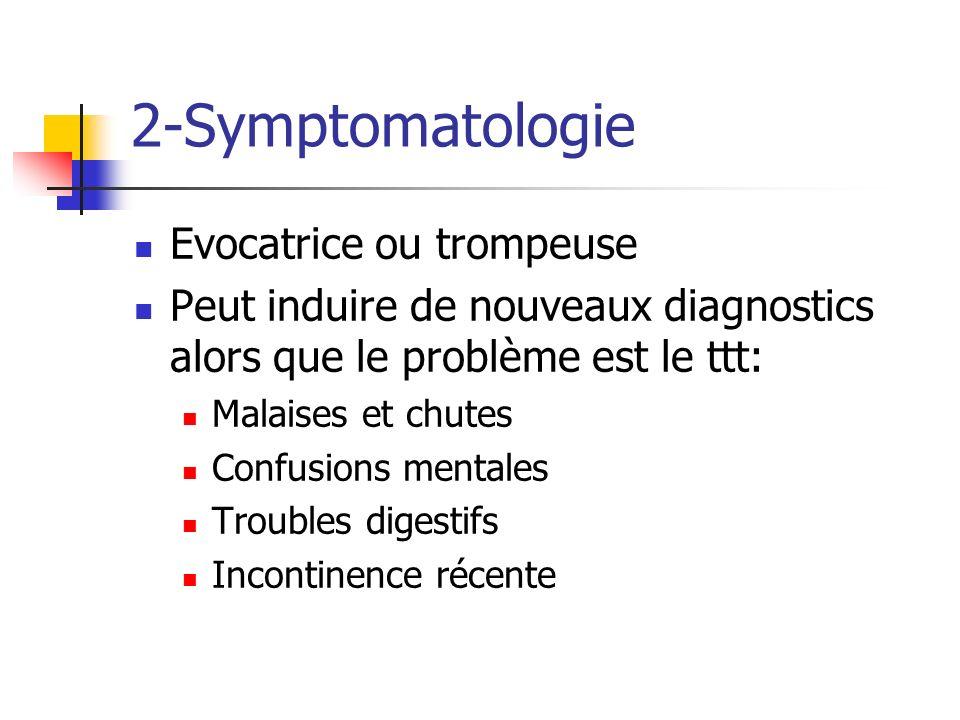2-Symptomatologie Evocatrice ou trompeuse