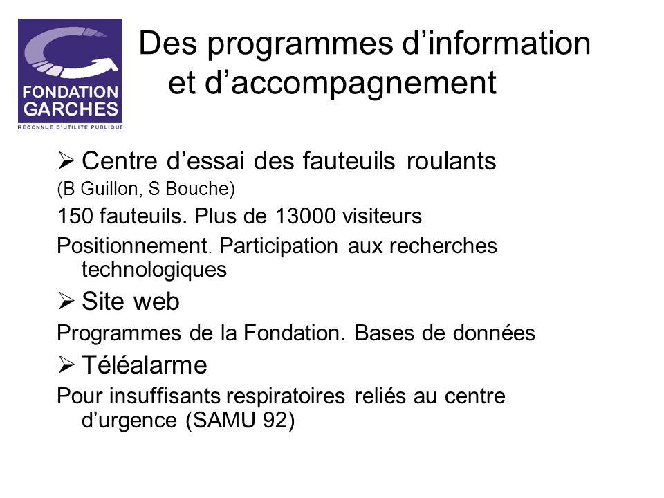 Des programmes d'information et d'accompagnement