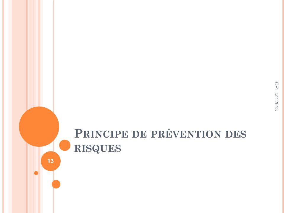 Principe de prévention des risques