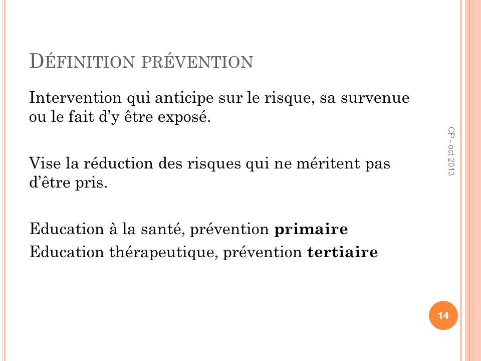 Définition prévention