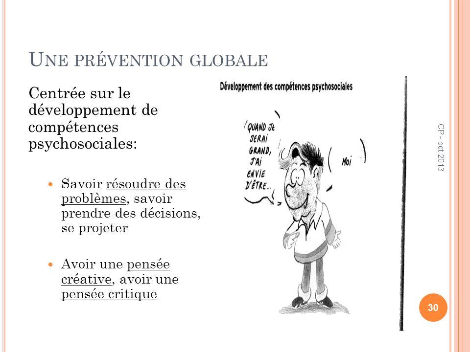 Une prévention globale
