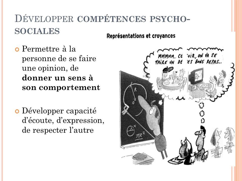 Développer compétences psycho-sociales