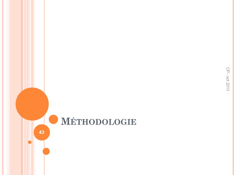 Méthodologie CP - oct 2013