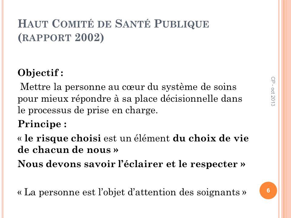 Haut Comité de Santé Publique (rapport 2002)