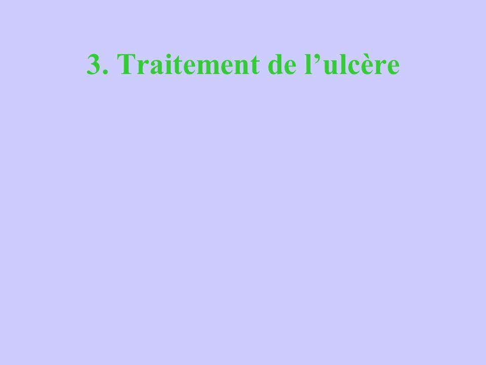 3. Traitement de l'ulcère