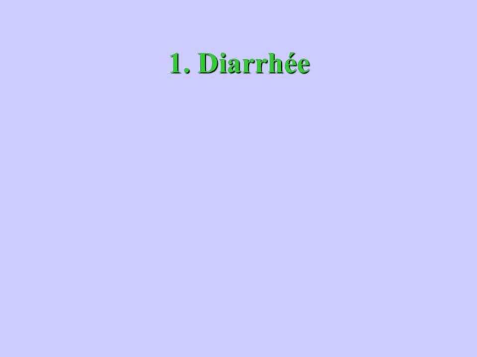 1. Diarrhée
