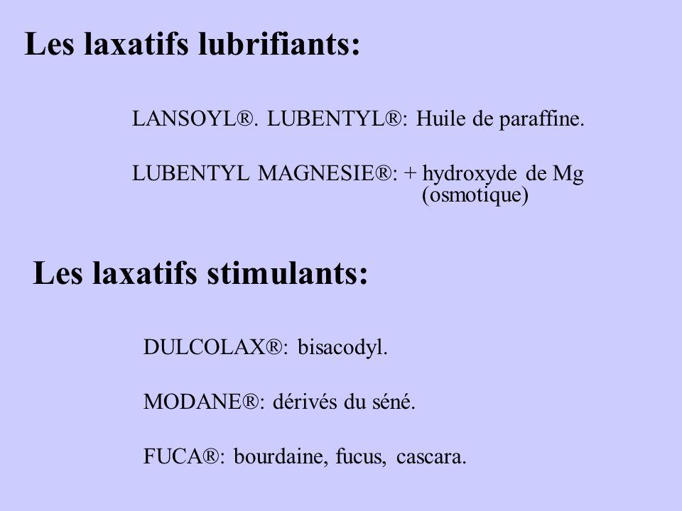 Les laxatifs lubrifiants: