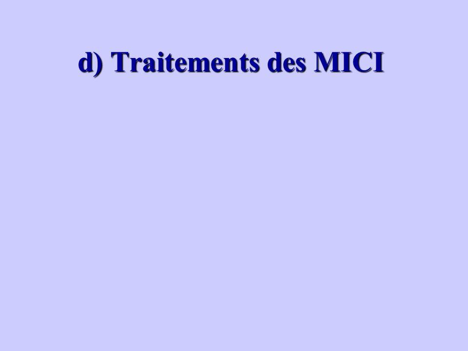 d) Traitements des MICI