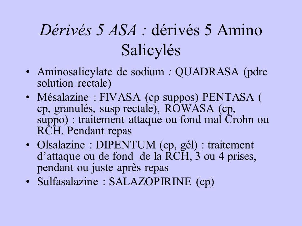 Dérivés 5 ASA : dérivés 5 Amino Salicylés