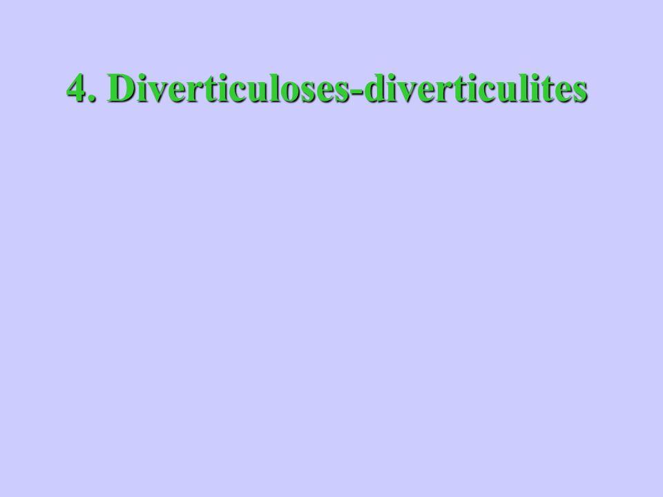 4. Diverticuloses-diverticulites
