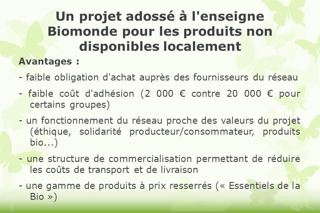 Un projet adossé à l enseigne Biomonde pour les produits non disponibles localement