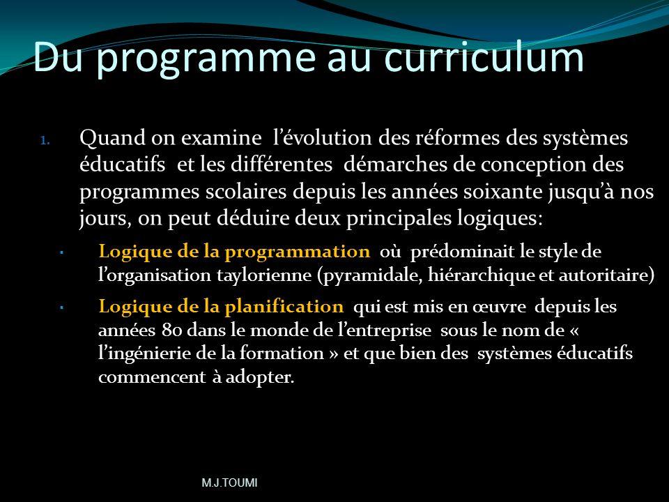 Du programme au curriculum