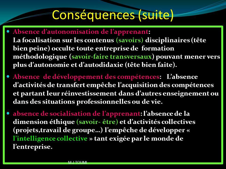 Conséquences (suite)