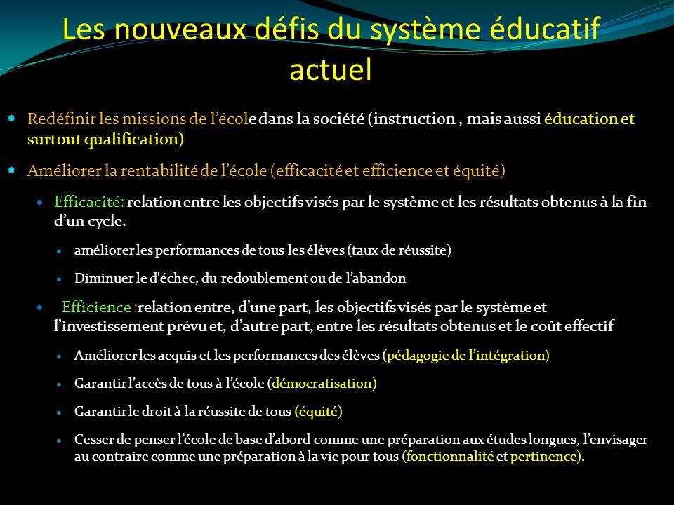 Les nouveaux défis du système éducatif actuel