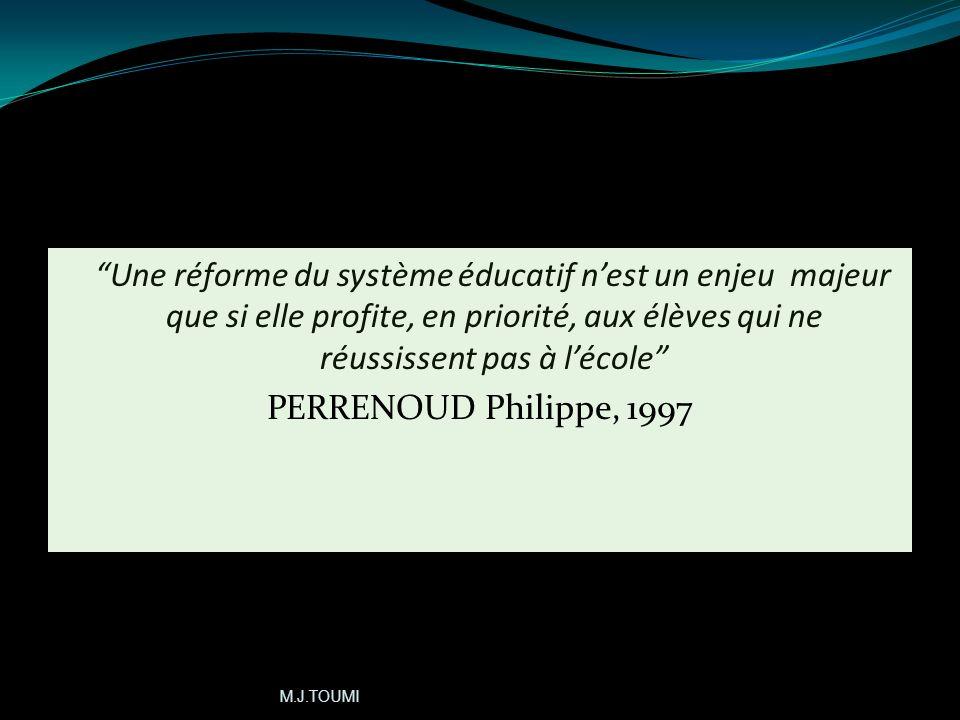 Une réforme du système éducatif n'est un enjeu majeur que si elle profite, en priorité, aux élèves qui ne réussissent pas à l'école