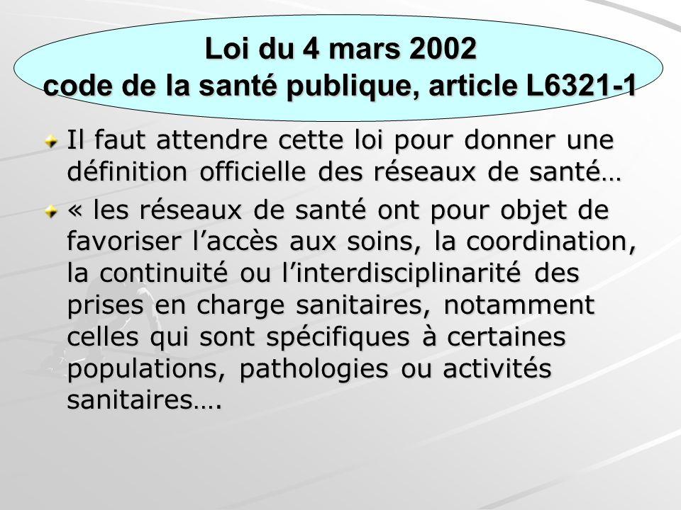 Loi du 4 mars 2002 code de la santé publique, article L6321-1