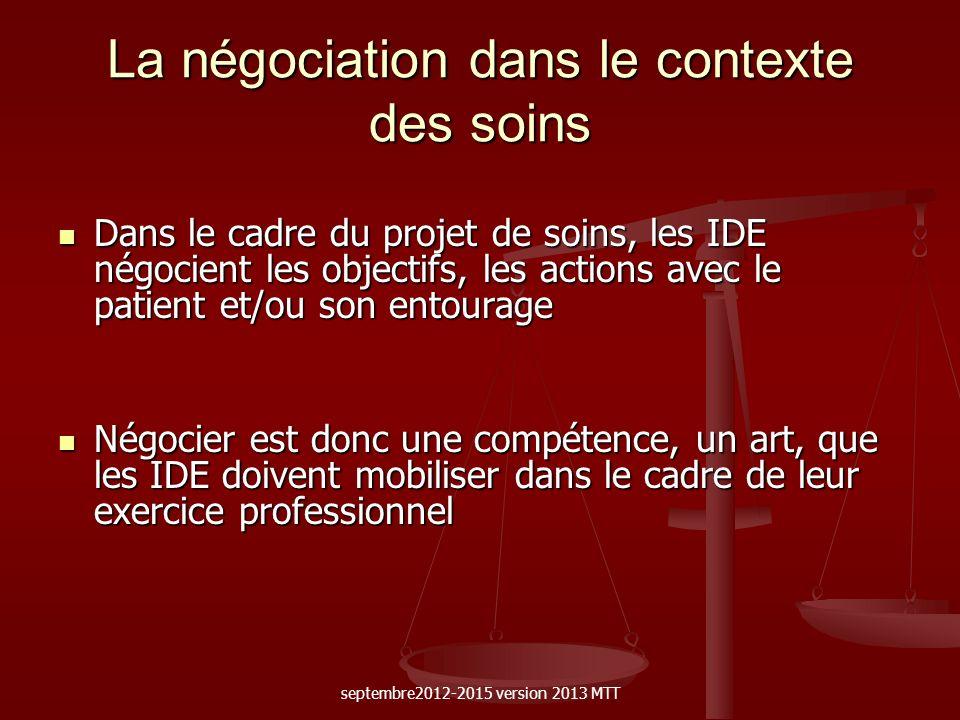 La négociation dans le contexte des soins