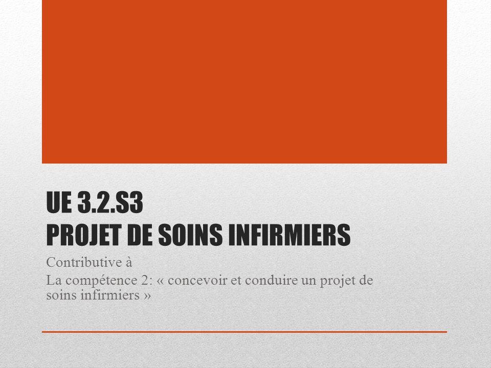 UE 3.2.S3 PROJET DE SOINS INFIRMIERS