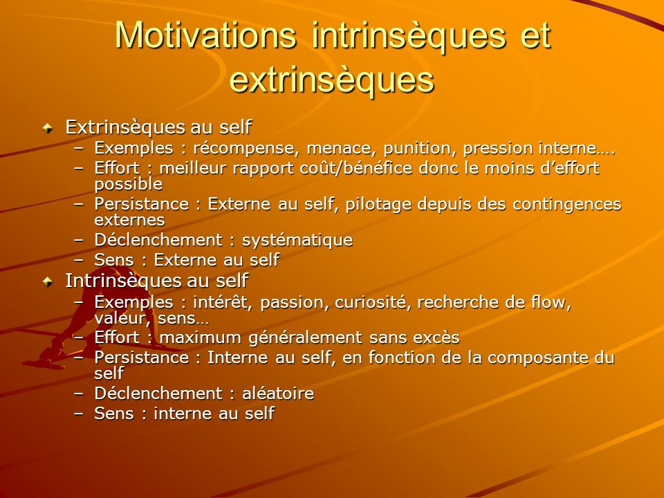 Motivations intrinsèques et extrinsèques