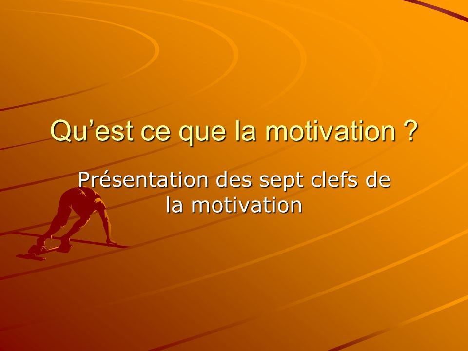 Qu'est ce que la motivation