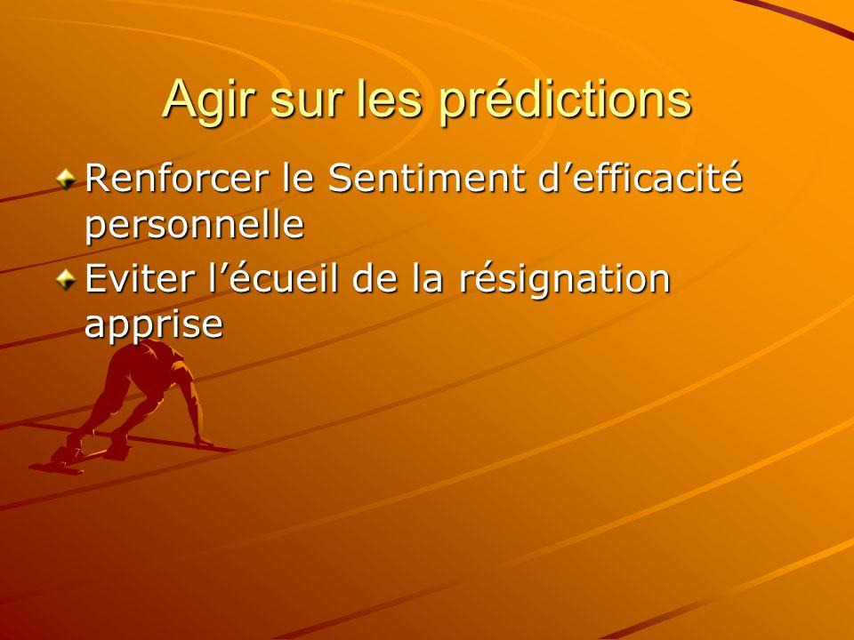 Agir sur les prédictions