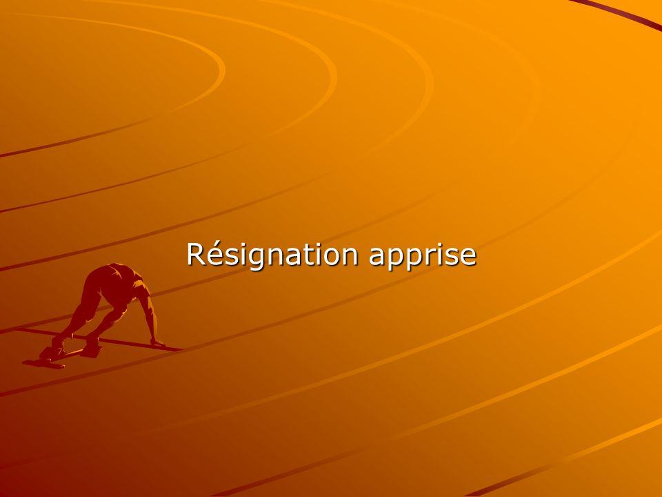 Résignation apprise