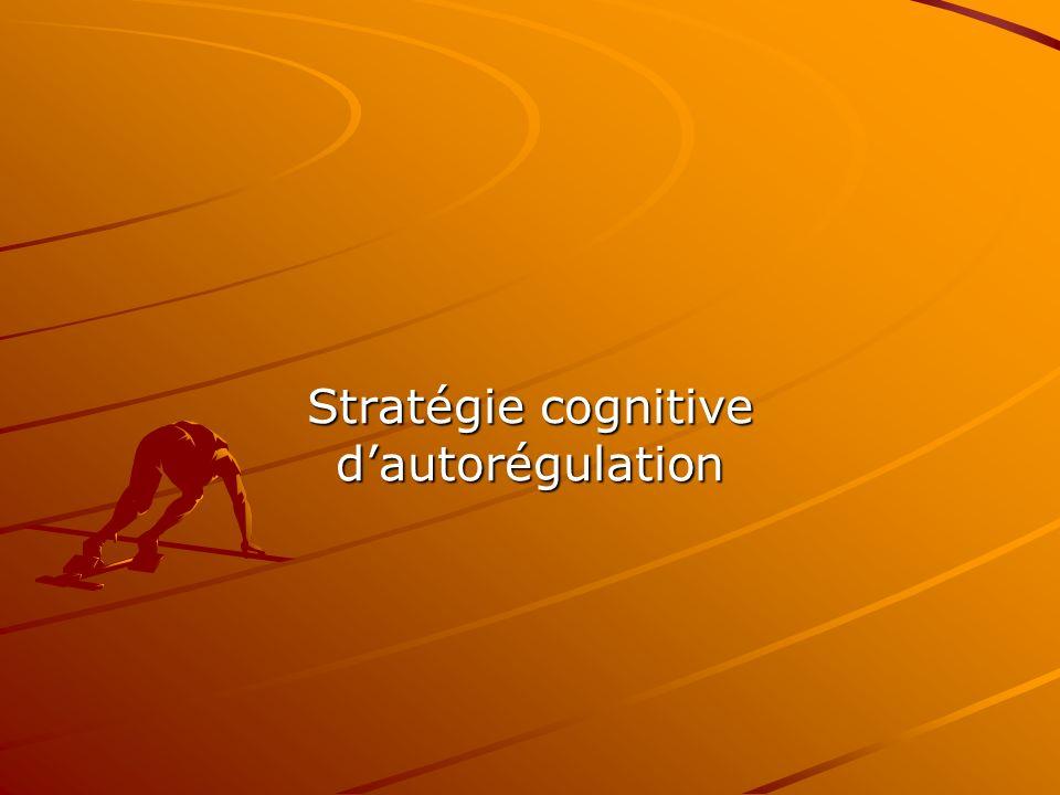 Stratégie cognitive d'autorégulation