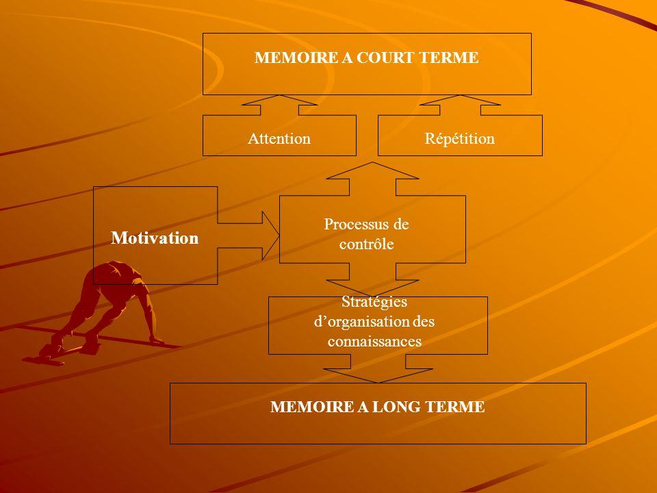 Stratégies d'organisation des connaissances