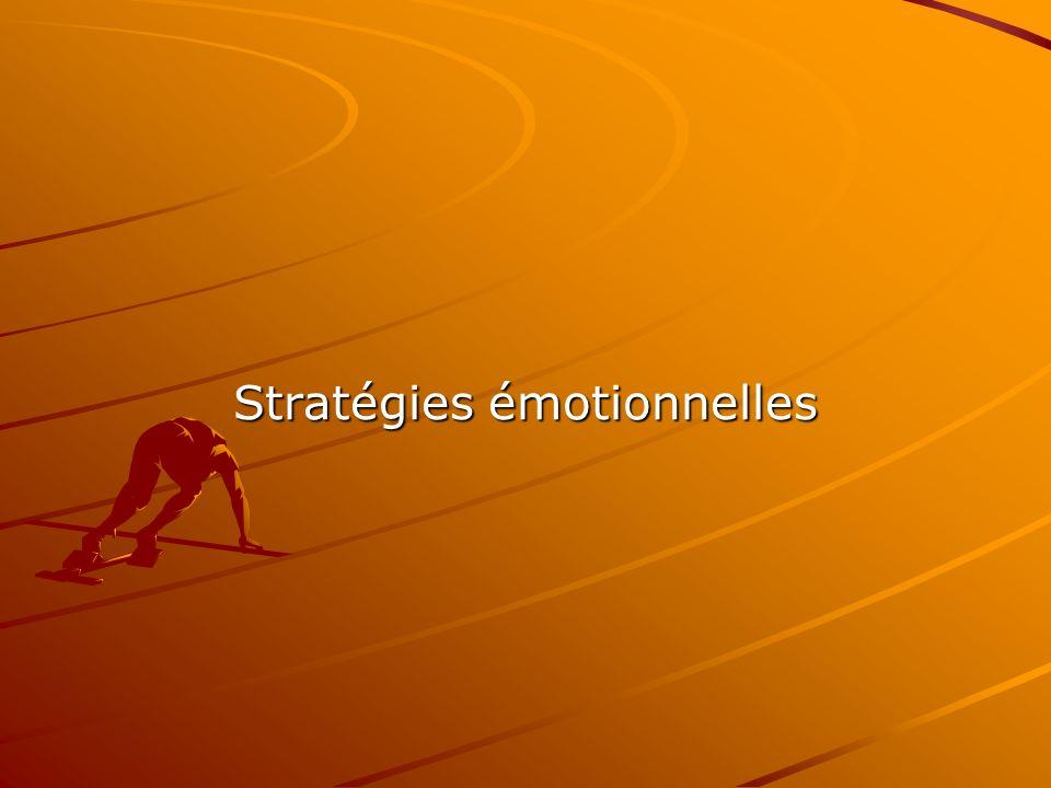 Stratégies émotionnelles