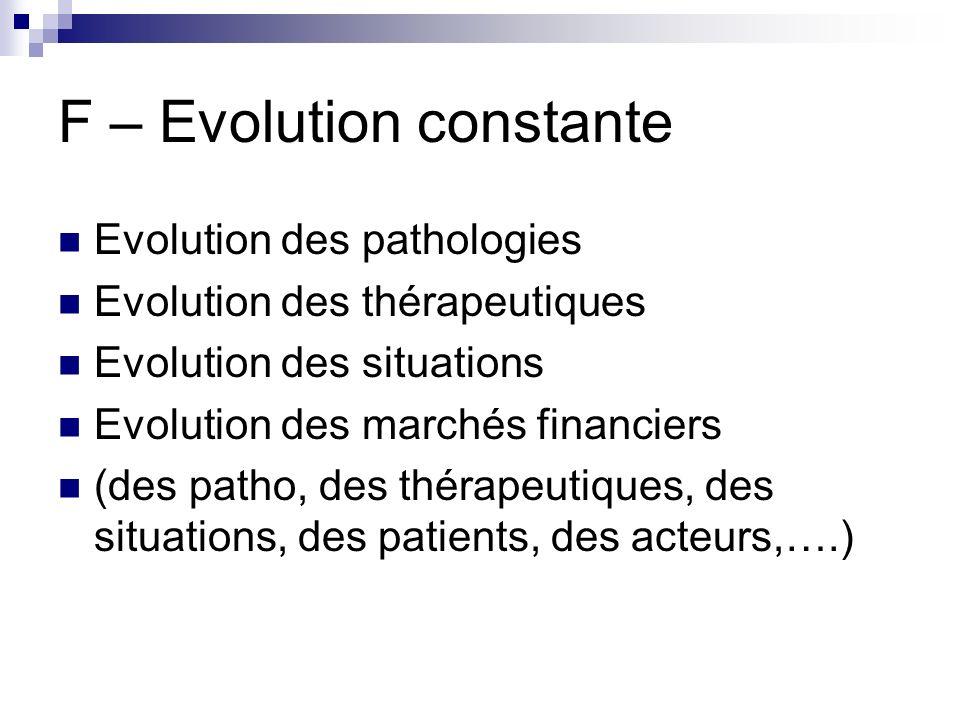 F – Evolution constante