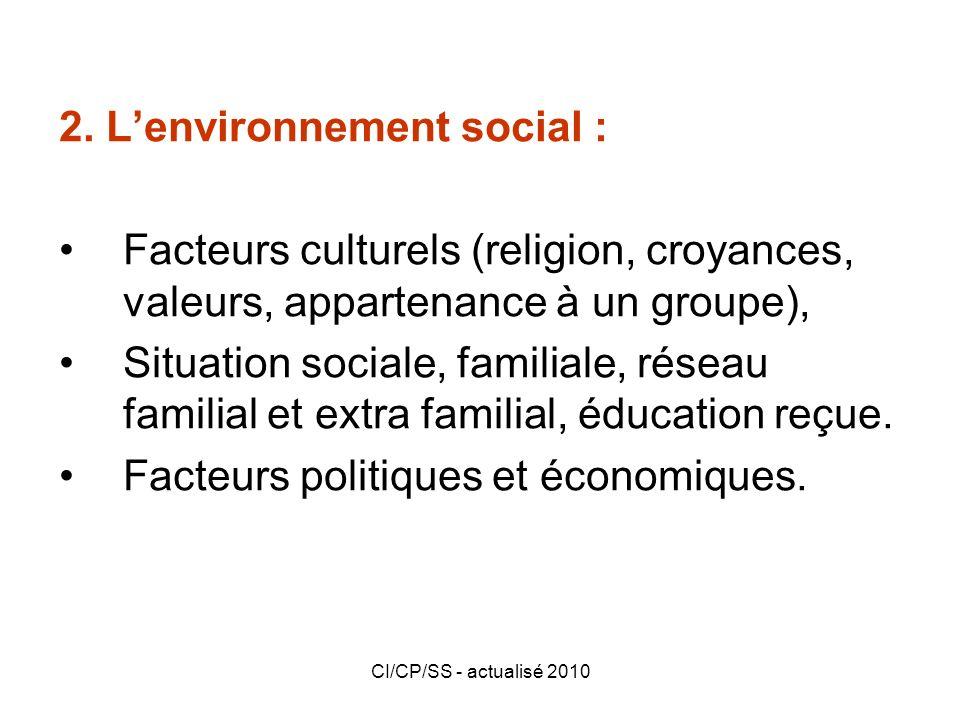 2. L'environnement social :
