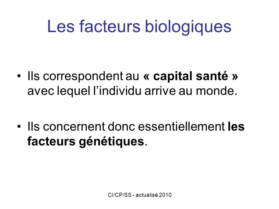 Les facteurs biologiques