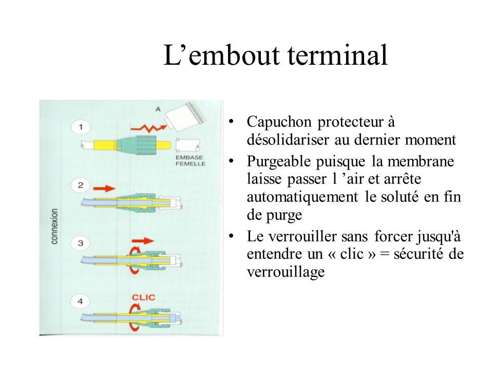 L'embout terminalCapuchon protecteur à désolidariser au dernier moment.
