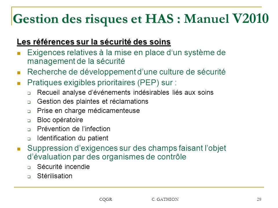 Gestion des risques et HAS : Manuel V2010