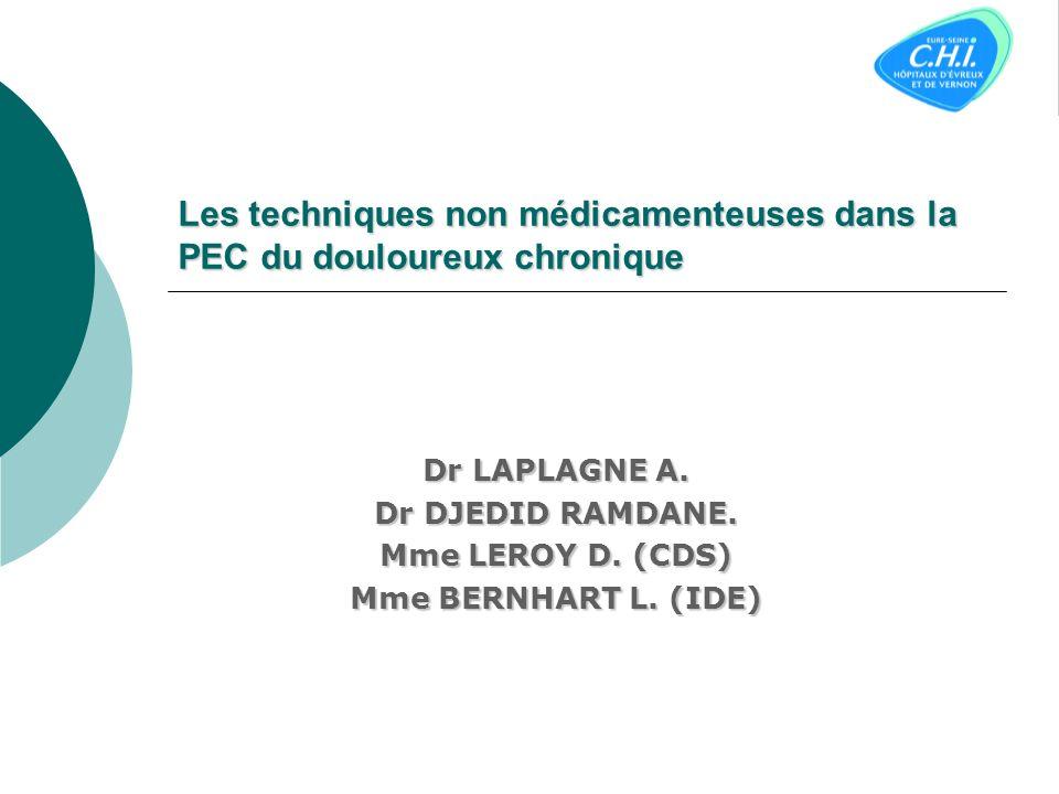 Les techniques non médicamenteuses dans la PEC du douloureux chronique
