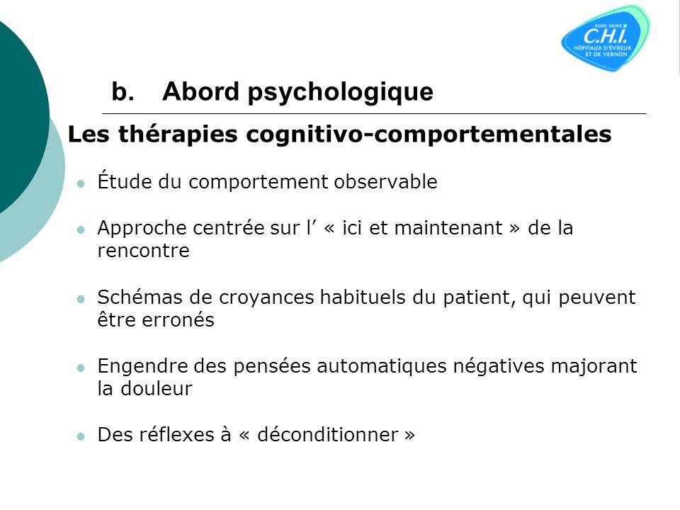 Abord psychologique Les thérapies cognitivo-comportementales
