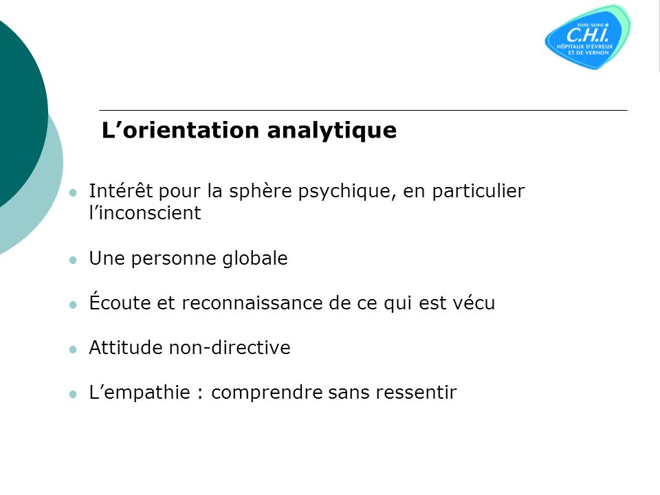 L'orientation analytique