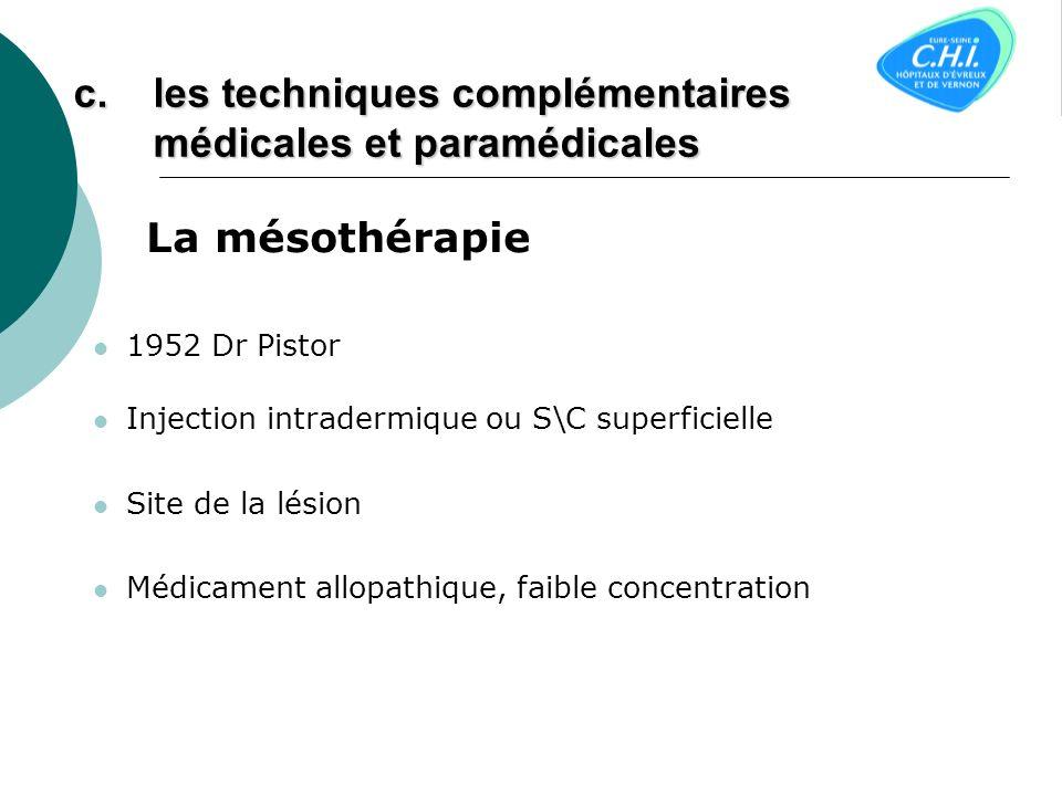 les techniques complémentaires médicales et paramédicales