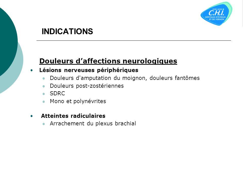 Douleurs d'affections neurologiques