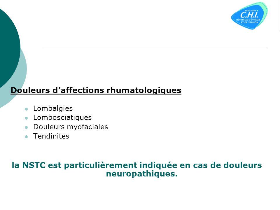 Douleurs d'affections rhumatologiques