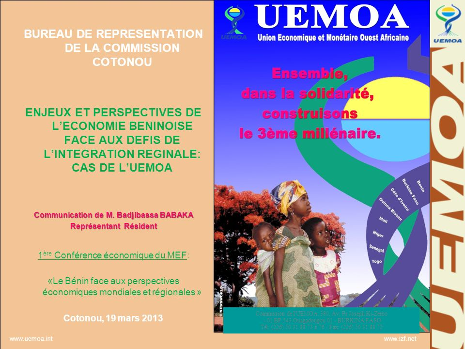 Communication de M. Badjibassa BABAKA