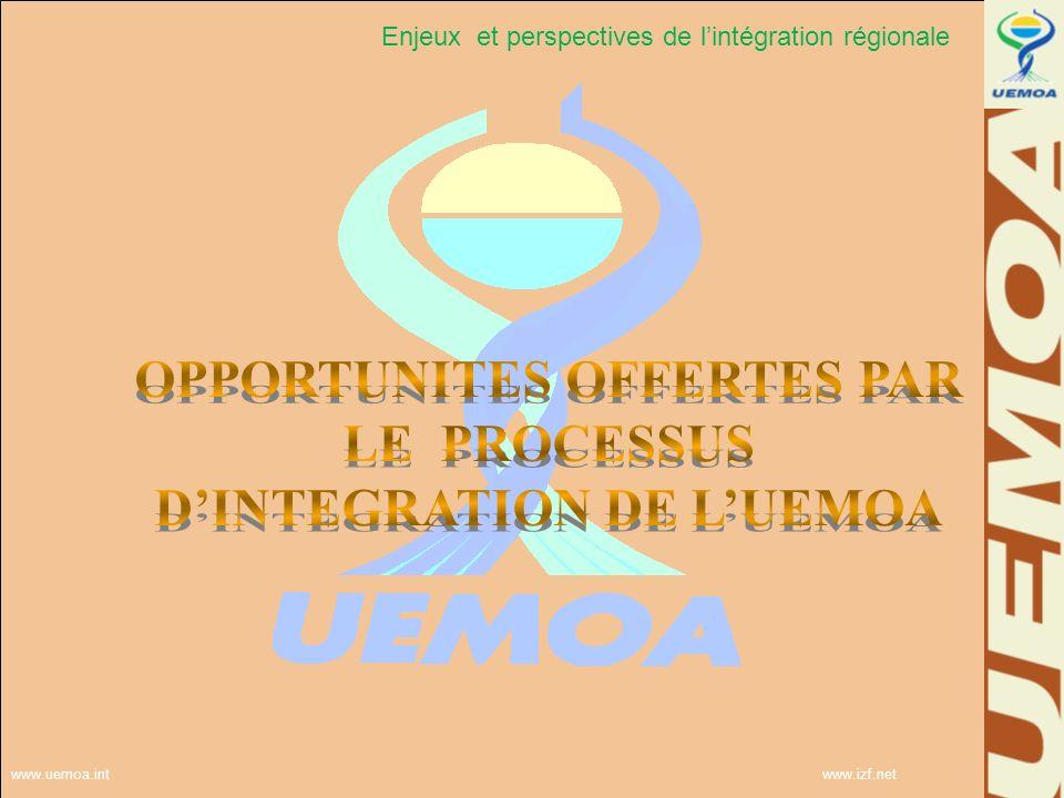 Enjeux et perspectives de l'intégration régionale