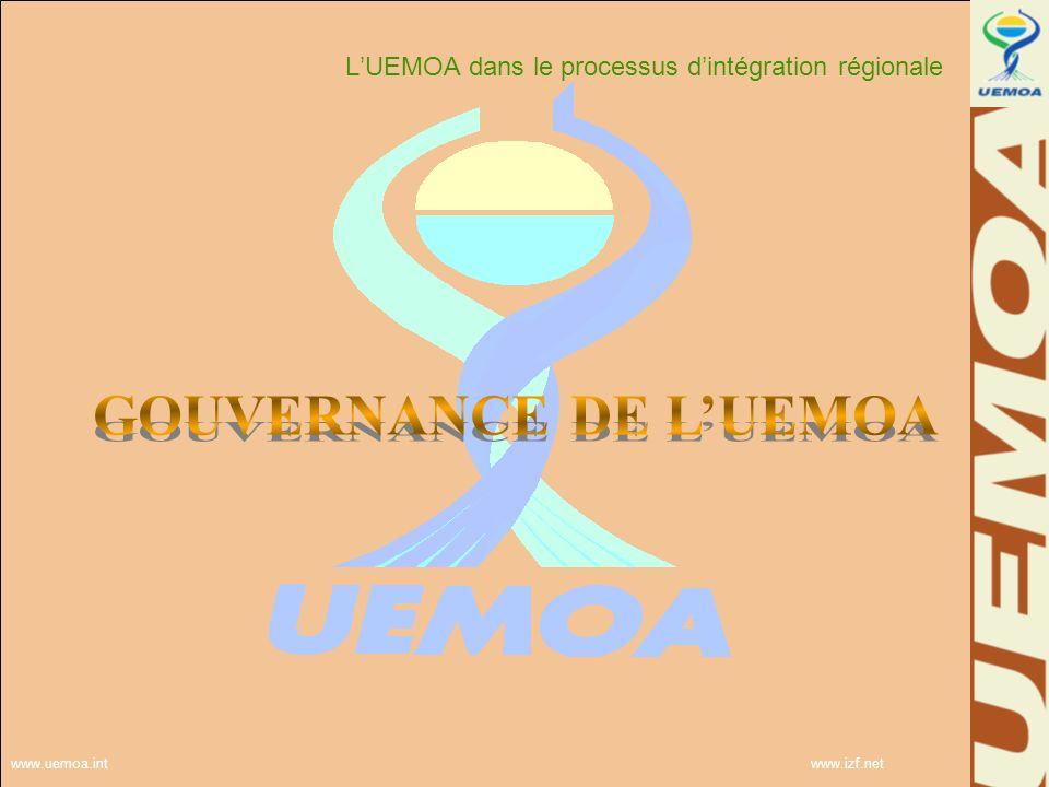 GOUVERNANCE DE L'UEMOA